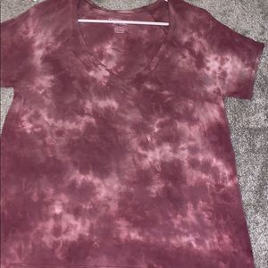 "american eagle ""soft and sexy"" tie-dye top"